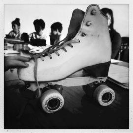 Le giovani pattinatrici dell'associazione Groove Skate Park ospiti di Scuol@ in Rete